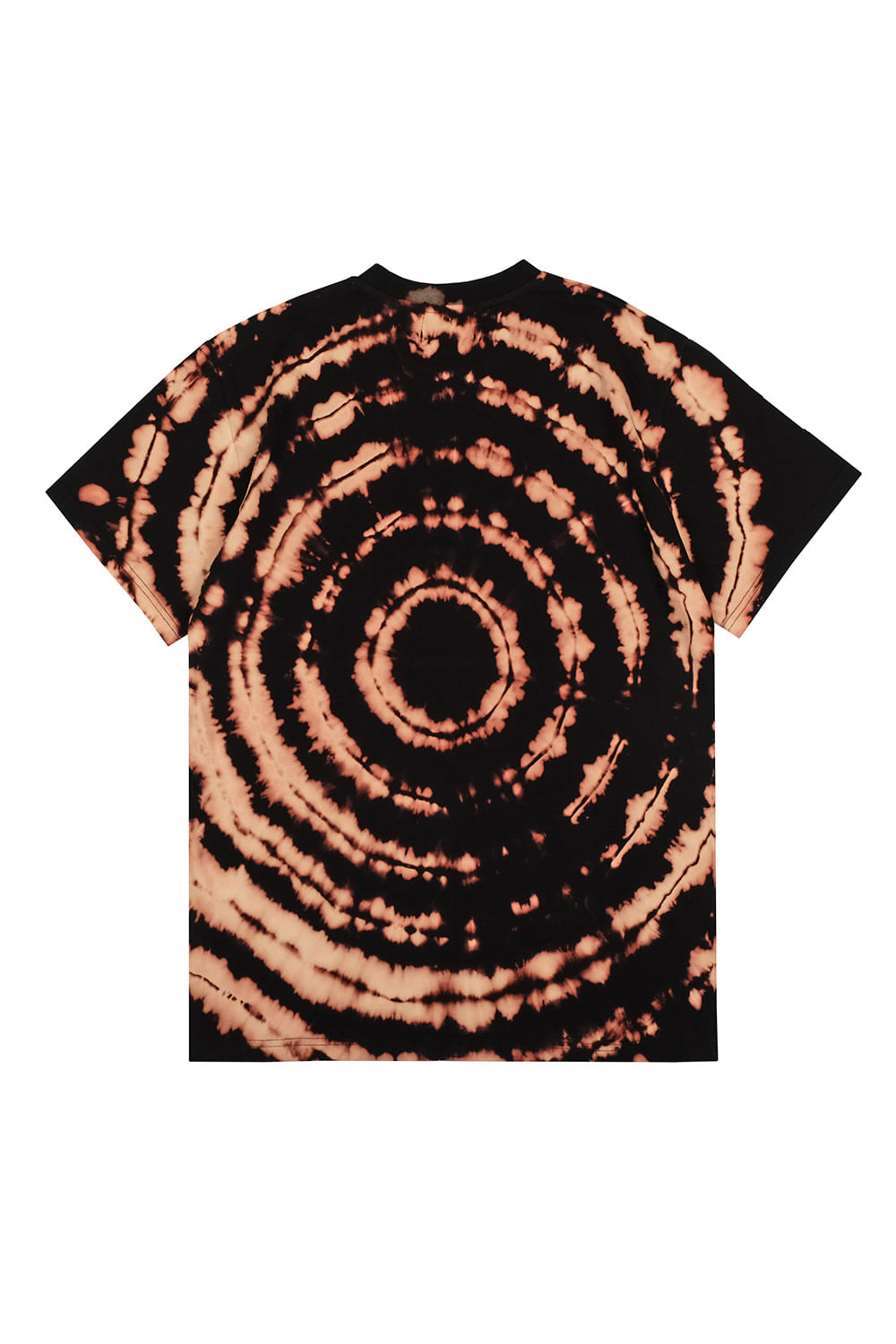 Discharge print  Short Sleeve T-shirts [Black]